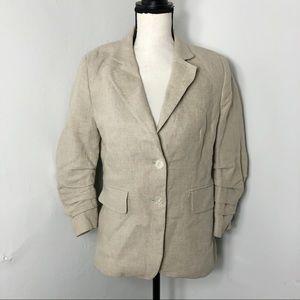 MICHAEL Michael Kors Linen Tan Blazer Jacket 8P